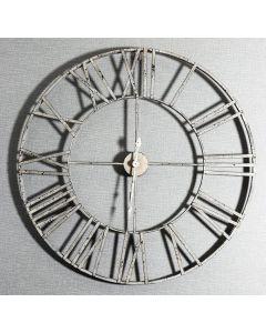 005298 White Clock - stenska ura Tapetedekor