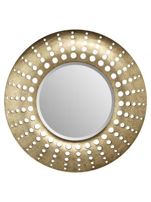 008261 Holed Mirror Gold