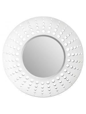 008263 Holed Mirror White