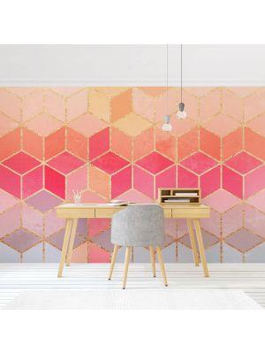F-1199 Golden Geometrie Pastell