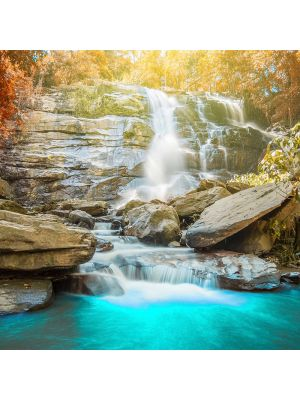 33-DD118662 Blue waterfall Fototapeta flis 350×255 cm