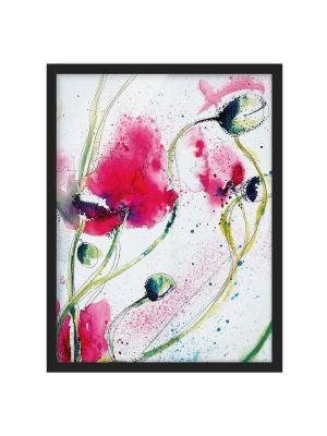 1003 Painted Poppies - okvirjena slika