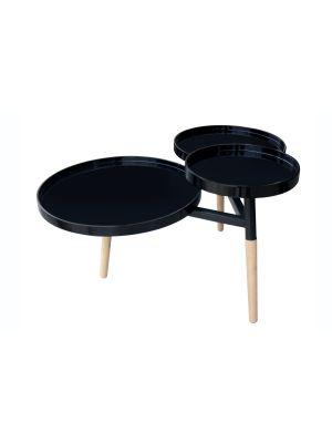 HT9N5 Klubska mizica Butler 110 črna