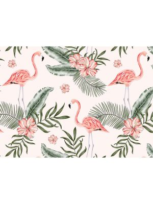 14-DD118580 Tropical Flamingo Fototapeta flis 350×255 cm