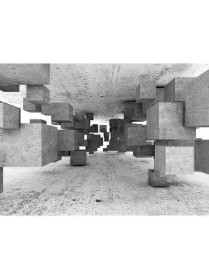 20-DD118742 Concrete Tetris Fototapeta flis 350×255 cm