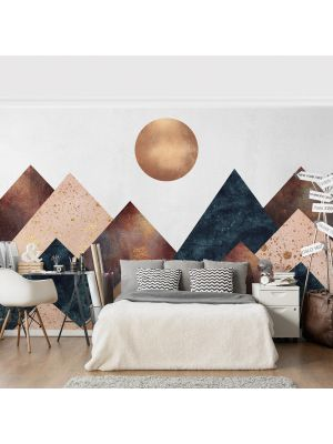 F-1158 Geometric Mountains