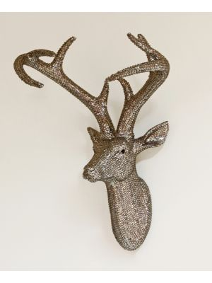 008217 Pewter Star Studded Stag Head