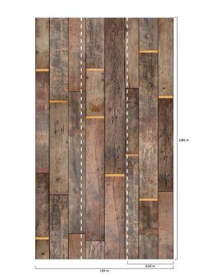 A41501 Wood 'n Gold Flis Fototapeta Tapetedekor