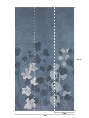A41701 Concrete Flower Flis Fototapeta Tapetedekor - 2 na zalogi