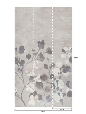A41702 Concrete Flower Flis Fototapeta Tapetedekor