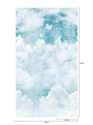 A42501 Blue Clouds Flis Fototapeta Tapetedekor