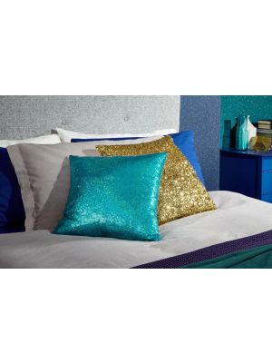 008332 Teal Sequin Cushion