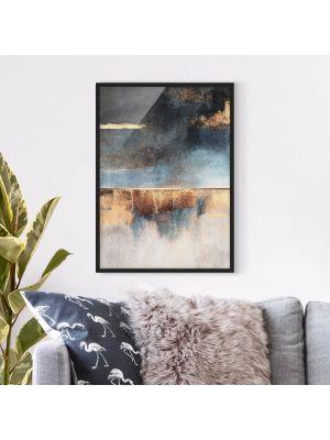 1004 Abstract Lakeshore - okvirjena slika