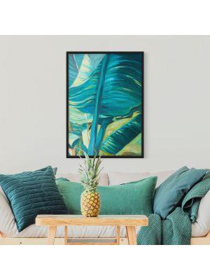 1007 Banana Leaf Turquoise - okvirjena slika