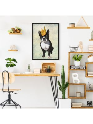 1006 Terrier King with Crown - okvirjena slika