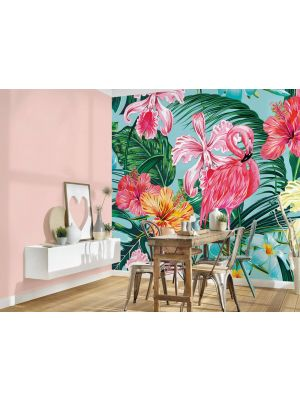 8-DD118564 Flamingo and art Fototapeta flis 350×255 cm