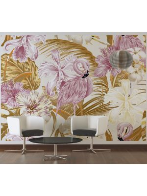 9-DD118566 Flamingo and art 2 Fototapeta flis 350×255 cm