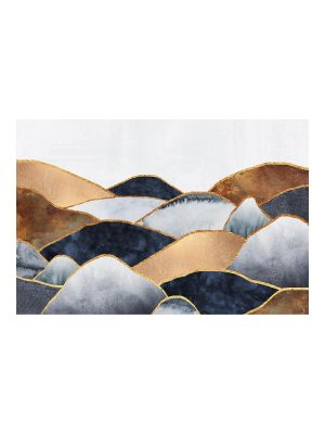 F-1170 Mountains Watercolor - Gold