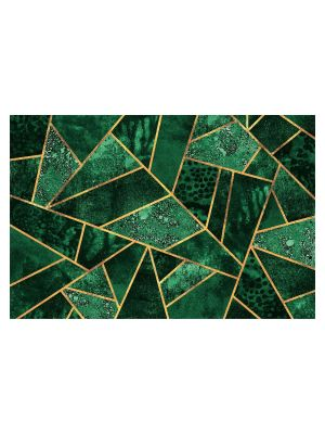 F-1153 Dark emerald with gold