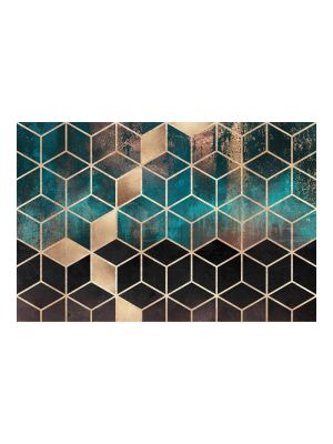 F-1154 Turquoise gold geometry
