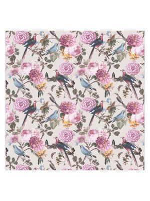 F-1165 Vintage Bird and Flowers