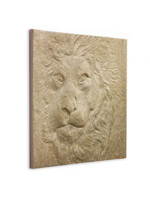 004303 Gold 3D Canvas Glitter Lion
