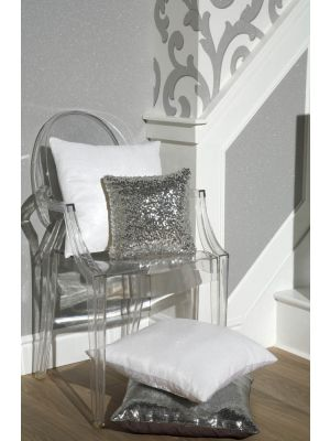 008335 White sequin Cushion