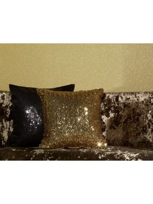 008333 Black Sequin Cushion