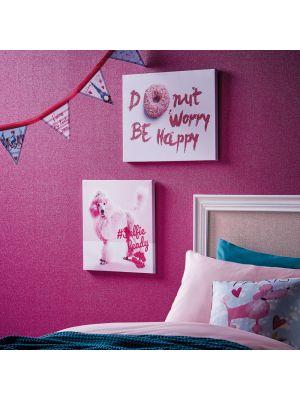 004673 Girl's Life Be Happy platnena slika Tapetedekor