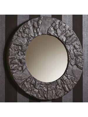 008275 Slate Round Mirror