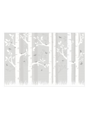 F-1181 Forest with Birds