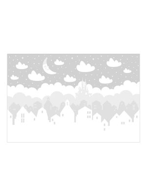 F-1113 Stars and Clouds - grey