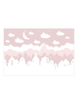 F-1111 Stars and Clouds - pink